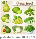 녹색, 벡터, 만화 30317776