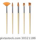 Realistic artist paintbrushes set 30321186