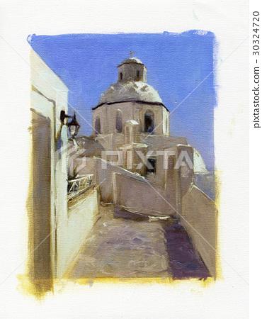 Small churches in Santorini 30324720
