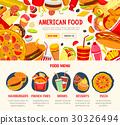 Fast food restaurant menu banner template 30326494