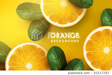 orange and leaves 30327283