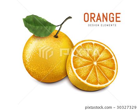 orange with fruit meat 30327329