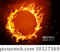 flaming hoop special effect 30327369
