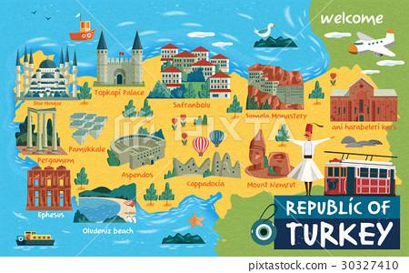 Turkey travel map 30327410