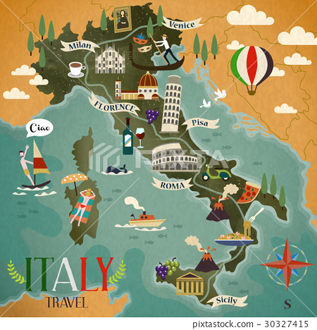 Italy travel map 30327415