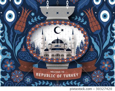 Turkey travel poster 30327420