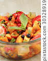 Berries and fruit salad with slices of jelly an 30328919