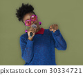 African Woman Vocal Singing Music Microphone 30334721