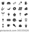 Fast food icons on white background 30335626