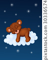 Baby bear sleeping on the cloud 30336574