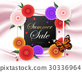 Summer background among beautiful colorful flower 30336964