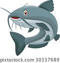 Cartoon catfish 30337689