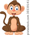 cartoon, cute, monkey 30339141