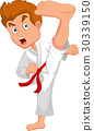 Little boy training karate 30339150