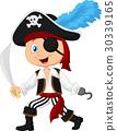 Cute cartoon pirate 30339165