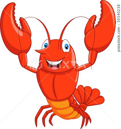 Cartoon lobster 30340238