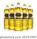 Group of plastic bottles with sesame seed oil 30343402