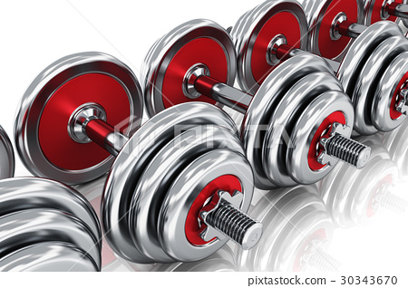 Row of dumbbells 30343670