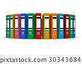 colorful, folders, set 30343684