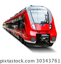 train, isolated, white 30343761
