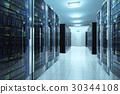 Server room in datacenter 30344108