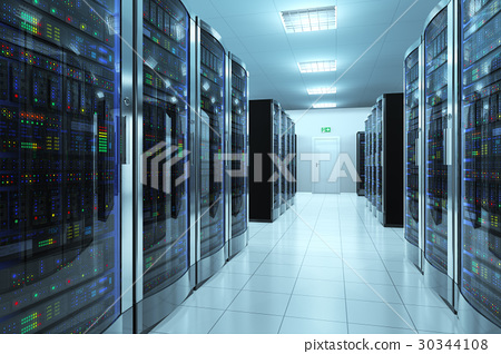Server room in datacenter 30344108