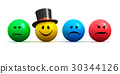 Emoticons with four different moods 30344126