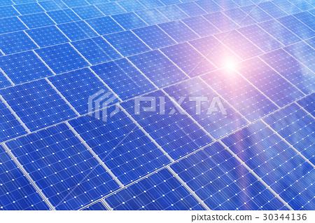 Electric solar battery panels 30344136