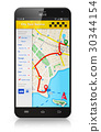 Smartphone with taxi service internet application 30344154