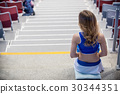 Back view of cheerleader girl 30344351