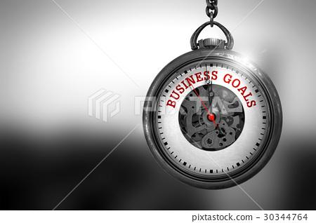 Business Goals on Pocket Watch. 3D Illustration. 30344764