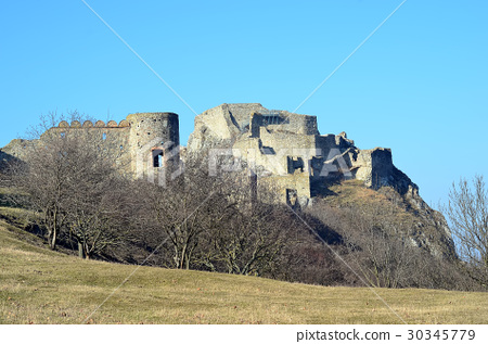 old ruins of former castle near Bratislava city 30345779