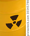 radioactive yellow barrel of waste detail 30345790