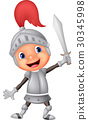 Cartoon knight boy 30345998