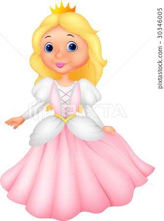 Cute princess cartoon 30346005
