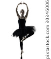 Ballerina dancer dancing woman  isolated silhouett 30346006