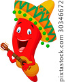 Red Chili Pepper Cartoon Character 30346672
