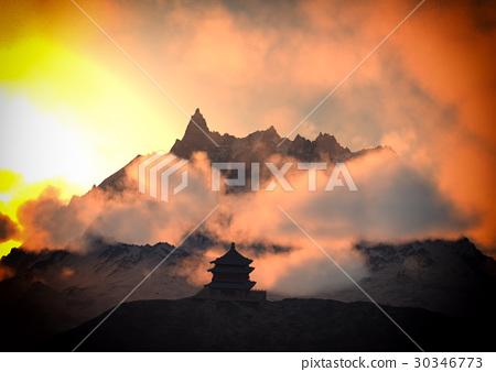 Sun temple - Buddhist shrine in the Himalayas 3d 30346773