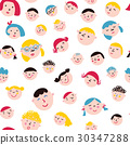 faces, pattern, vector 30347288