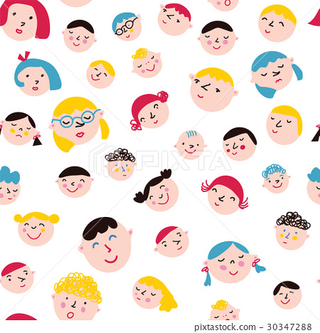 Funny faces seamless pattern 30347288