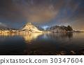 sunrise at Reine, Lofoten Islands, Norway 30347604
