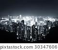 Hong Kong from  Victoria peak, ltilt shift photo 30347606