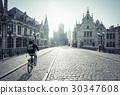 Historic houses in Ghent, Belgium 30347608