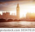 Big Ben and Westminster at sunset, London, UK 30347610