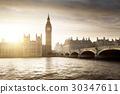 Big Ben and Westminster at sunset, London, UK 30347611