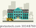 School and yellow bus 30348760