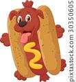 Hot Dog Cartoon Character 30350605