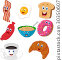 Breakfast cartoon collection 30350607