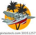 vector, cartoon, retro 30351257