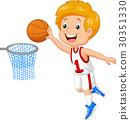 Kid playing basket 30351330